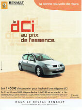 Publicité Advertising 028  2005   la Renault Mégane  berline dci
