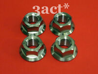 4 pcs Titanium / Ti M14 x 1.25mm Pitch Sprocket Flange Bolt Nut