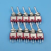2Pcs T7013-U2 Long Flat Handle 3Pin ON-ON Mini Toggle Switch For Remote Control