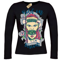 Hold on the vision T-Shirt mother nature gaia ladies long sleeve