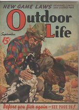 Outdoor Life Magazine September 1939 Pheasant Hunting Dog cover by J F Kernan