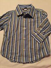 Baby Gap Boys Long Sleeve Button Up Shirt Size 12-18 Months Blue