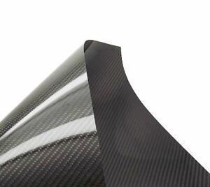 500x400x.3mm 3k Carbon Fiber Veneer Sheet Panel Twill Weave Ultra-High Gloss