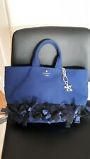 PRE-OWNED LANVIN BLUE TOTE BAG FROM JAPAN