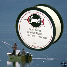 Surf King Braided Nylon Fishing Line 50 Yd, 72 # Test