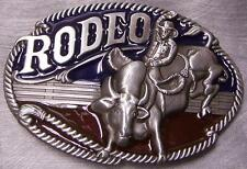 Pewter Belt Buckle Rodeo Bull Rider NEW