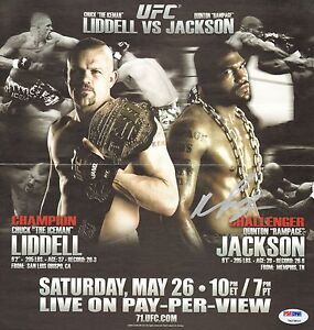 Quinton Rampage Jackson Signed UFC 71 PPV 11x11 Centerfold Poster PSA/DNA COA