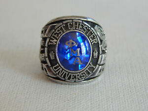 Vintage 1985 West Chester University Phi Mu Alpha Class Ring Sz 6.5