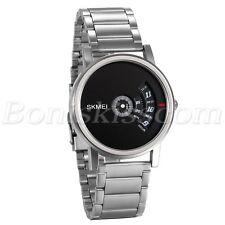 Men's Fashion Unique Creative Design Stainless Steel Analog Quartz Wrist Watch