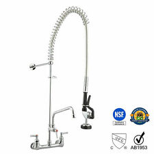 Commercial Pre Rinse Sink Faucet Kitchen 12 Add On Mixer Tap Pull Down Fl