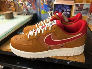 Nike Air Force 1 '07 LV8 Tawny Gym Red Basketball 718152 206  Size US 11.5 New