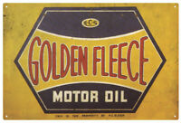 GOLDEN FLEECE HEX MOTOR OIL VINTAGE  TIN SIGN
