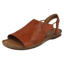 Sandalias y chanclas de mujer de color principal marrón de piel talla 42
