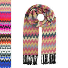 Womens Ladies Color Stripes Autumn Winter Scarf Soft Thick Wrap Scarves Shawl