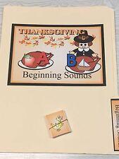Thanksgiving -  File Folder Game  - Activity Set - Beginning Sounds