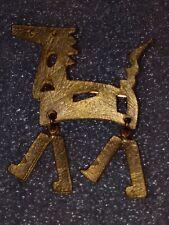 Vintage Signed Ultra Craft Articulating Horse Brooch Golden