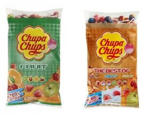 CHUPA CHUPS MIXED LOLLIES Assorted Flavour Lollipops Cola Apple Strawberry