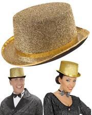 Cappello Cilindro Oro , Accessorio Costume Carnevale PS 09300