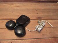Vintage Bell System Western Electric Telephone Alarm Double Bells Hammer Ringer