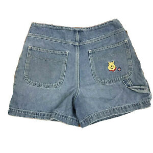 Disney Winnie the Pooh Womens Vintage Jean Shorts Embroidered Pooh And Flowers 6