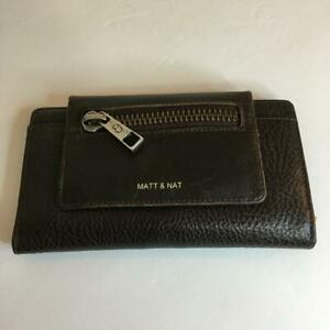 Matt & Nat Women's Wallet ~ Brown Pebbled Vegan Leather - Card Holder Coin