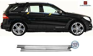 Mercedes Benz ML W164 2005-2011 Chrome Window Frame Trims 4 Pcs Stainless Steel