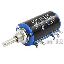 2pcs WXD3-13 100K Ohm 2W Rotary Wirewound Multiturn Taper Pot Potentiometer