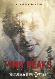 TWIN PEAKS SEASON 3 Mark Frost, David Lynch TV Series Poster Wall Art Print
