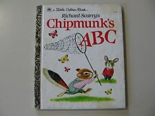 Richard Scarry's Chipmunk's ABC (Little Golden Book) writing outside cover