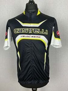 Castelli Cycling Jersey Men's Size XXL Short Sleeve Full Zip Bike Shirt Trikot
