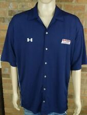 Under Armour Speed Channel Casual Button Front Shirt 2XL XXL Blue