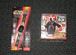 Star Wars TRIVIA BOX GAME & DARTH VADER VINTAGE 1996 TIMEPEICE -New-SEALED