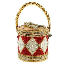 Mary Frances Don't Miss A Beat Drum Holiday Beaded Christmas Handbag Bag New