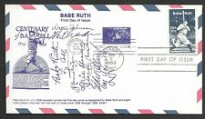 Babe Ruth USPS Postage Stamp First Day of Issue with Printed Signatures