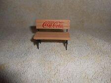 Coca-Cola Tan Mini or Miniature Doll House Bench