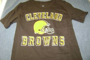 CLEVELAND  BROWNS T-SHIRT KIDS 7-8 SMALL NEW NFL NICE