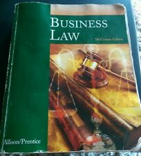 Business Law John Allison, Robert Prentice 7th. Edition 2006