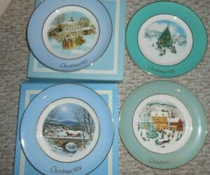 "8/"" 1977 1999 Avon 9/"" Christmas plates choice 1976"