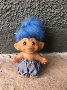 VINTAGE TROLL  1960S WISHNIK Uneeda troll Blue Mohair