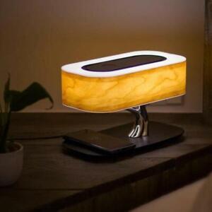 AuraDec Tree of Light - Bedside Lamp w/ Built-in Speaker, Wireless Phone Charge