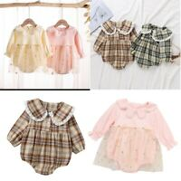 Baby Girls Newborn Clothes Birthday Party Romper Tutu Cotton Jumpsuit Outfits