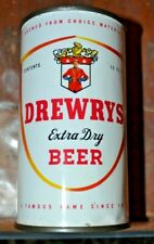 Vintage Drewry's Flat Top Beer Can Nice Shape Good Colors Vanity Lid Minty