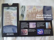 More details for bank of scotland: 2019 matched polymer £20 banknotes pair pack qc & aa.