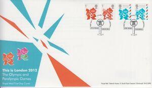 GB Großbritannien FDC 2012 Paralympics Olympia MiNr. 3180-3183