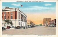 B12/ Tuscaloosa Alabama AL Postcard c1920s Broad Street Looking West Bank Post