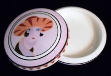 Noritake Deco Flapper Lady Trinket Dish Powder Jar Compact