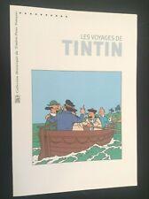 Plaquette de Timbres Les voyages de Tintin TBE