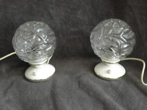 PAIR cage lamp bedside Bed Side MID CENTURY MODERN Vintage light ice age retro