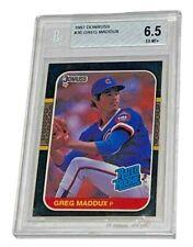 GREG MADDUX 1987 DONRUSS #36 BGS 6.5 EX MT BASEBALL TRADING CARD BECKETT
