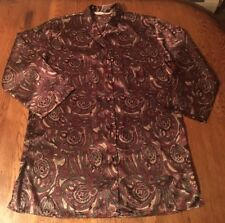 Vintage Victoria's Secret Paisley Satin Sleepshirt Nightgown Pajamas Size S
